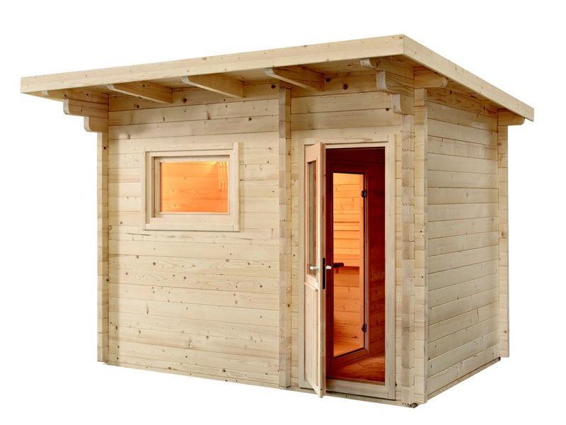 Gartensauna Bausatz LAVA - Outdoorsauna mit Vorraum