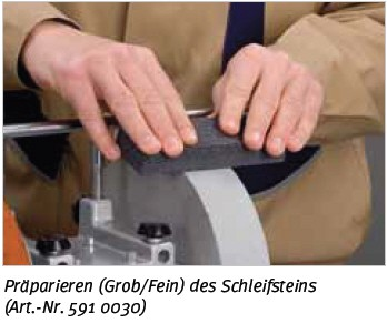 Zubehör NTS 251 - Abricht-Schleifstein Grob/Fein