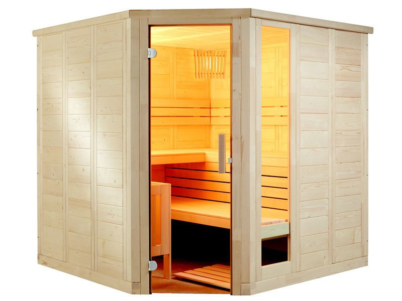 Sauna Bausatz KOMFORT CORNER LARGE 234x206cm - Saunakabine