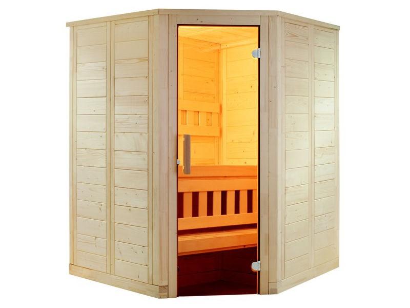 Sauna Bausatz WELLFUN MINI 145x145cm - Saunakabine