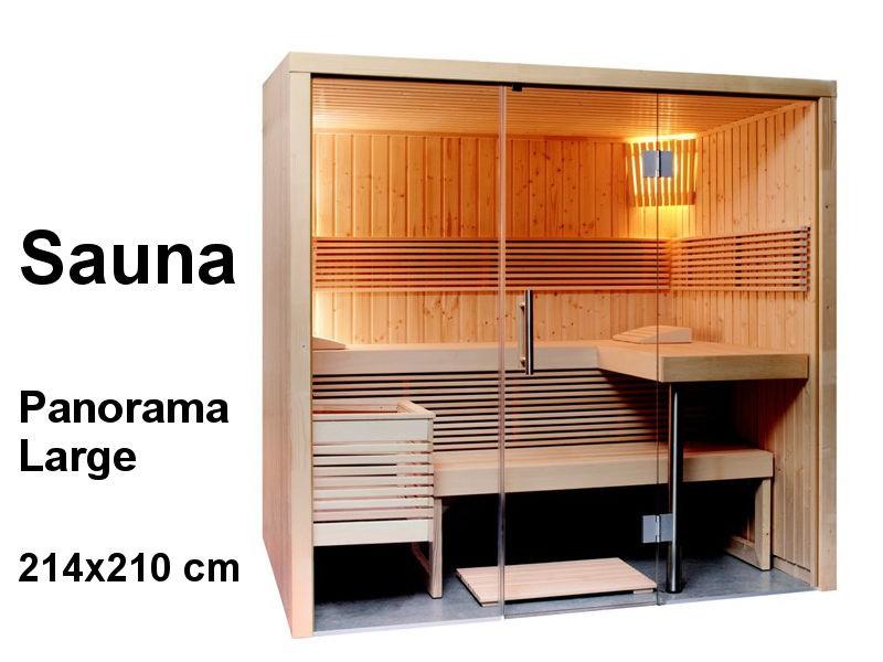 Sauna Bausatz PANORAMA LARGE 214x210cm - Saunakabine