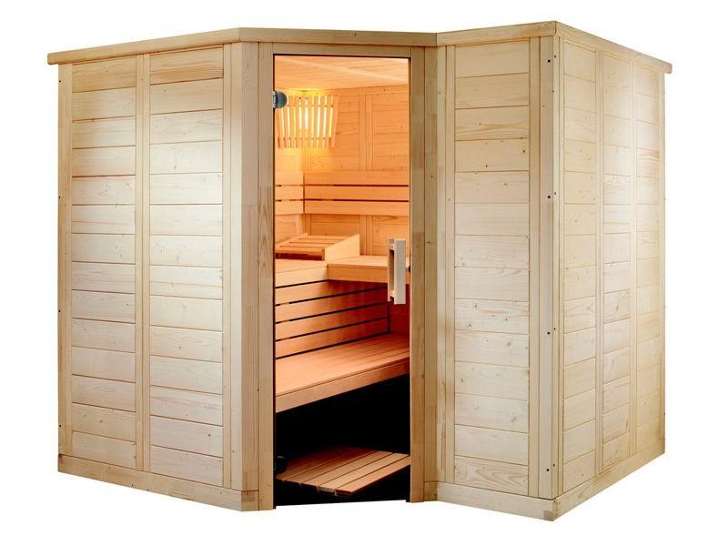 Sauna Bausatz POLARIS SMALL 206x206cm - Saunakabine
