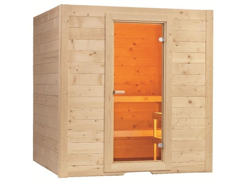 Sauna Bausatz BASIC LARGE - 195x187cm - Saunakabine