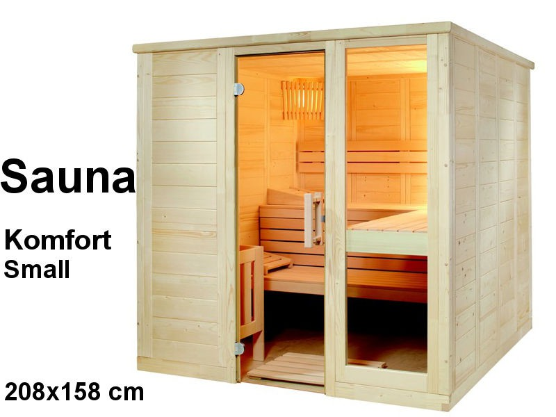 Sauna Bausatz KOMFORT SMALL 208x158cm - Saunakabine