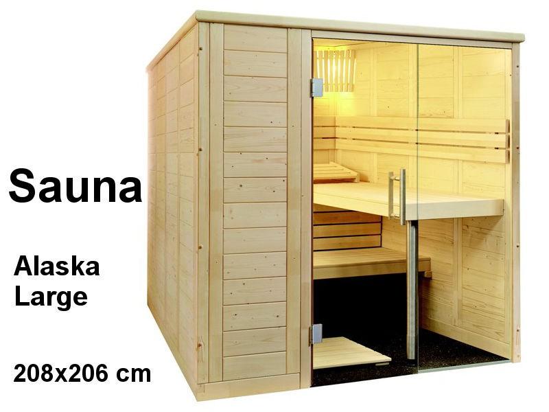 Sauna Bausatz ALASKA LARGE 208x206cm - Saunakabine