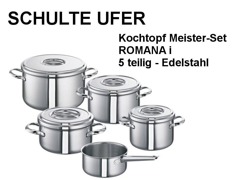 Kochtopfset Meister-Set ROMANA i 5 tlg Edelstahl 447