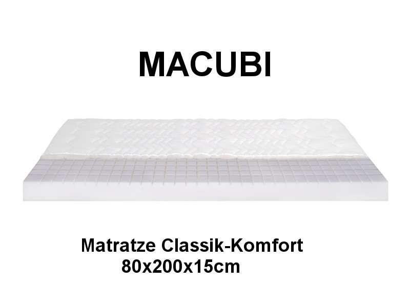 MACUBI Matratze Classik Komfort 80x