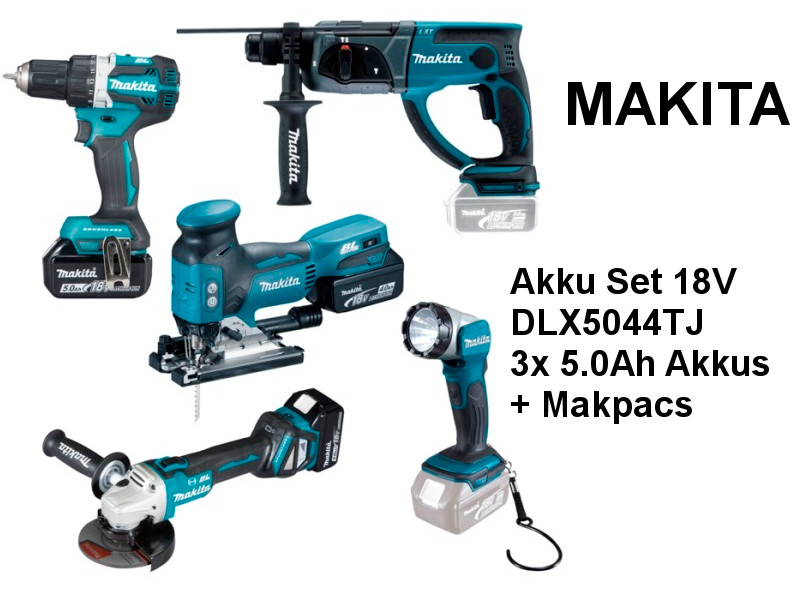 makita set 18v dlx5044tj 5 ger te haus. Black Bedroom Furniture Sets. Home Design Ideas