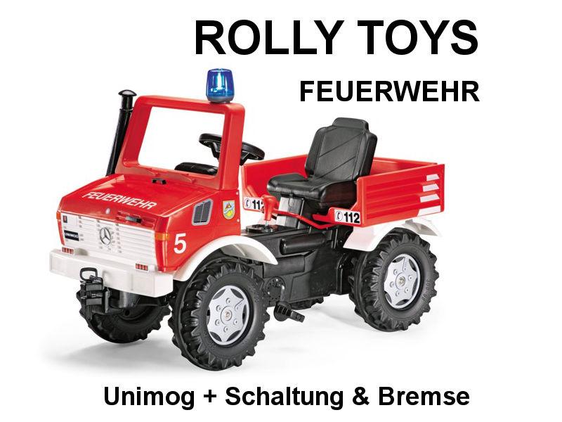 Feuerwehr-Unimog mit Schaltung und Bremse von rolly toys