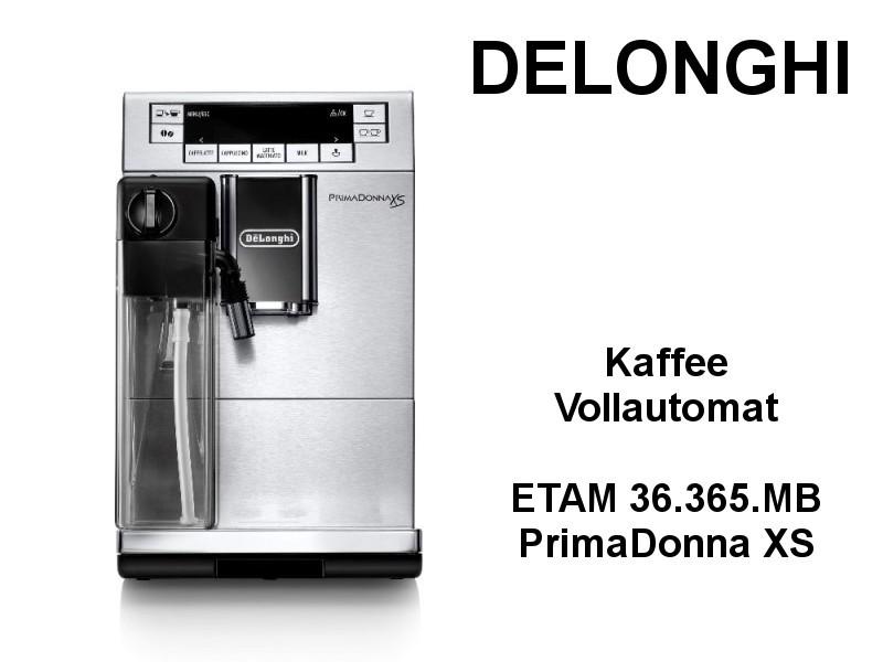 Kaffee Vollautomat ETAM 36.365.MB PrimaDonna XS