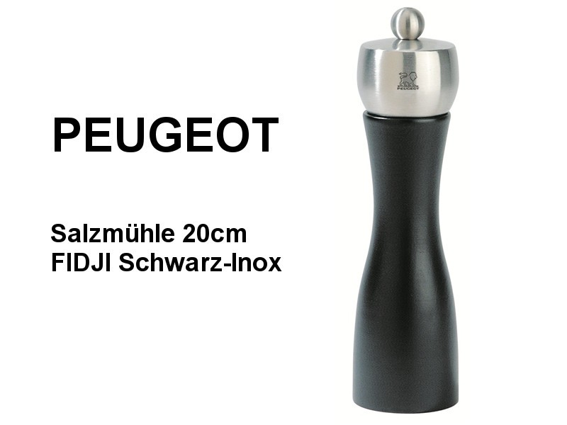 Salzmühle FIDJI Schwarz/Inox 20cm, Gewürzmühle