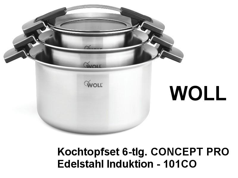 Kochtopf Set CONCEPT PRO 6-teilig Edelstahl Induktion 101CO