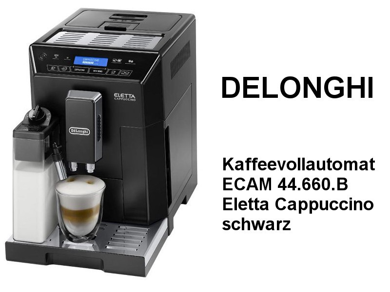 Kaffeevollautomat ECAM 44.660.B Eletta Cappuccino - Schwarz