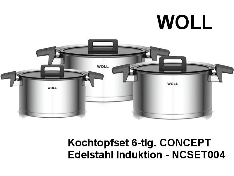 Kochtopf Set CONCEPT 6-teilig Edelstahl Induktion NCSET004
