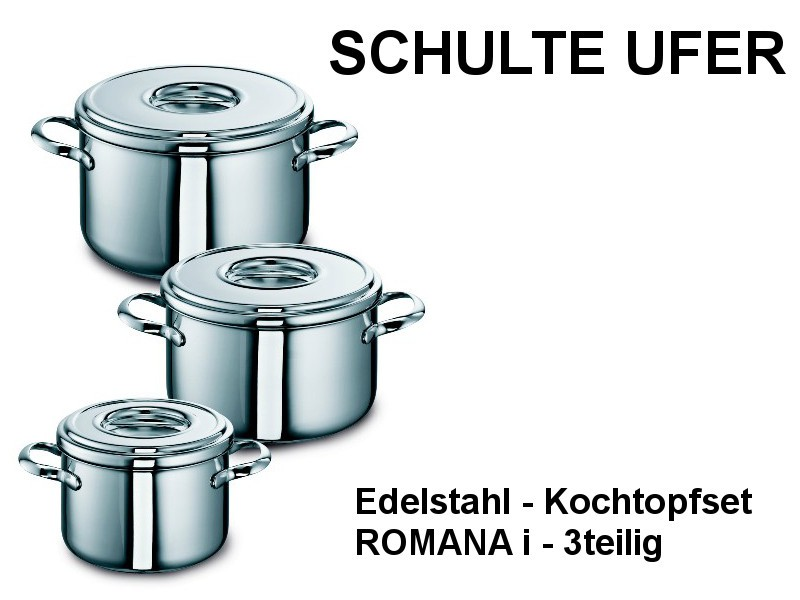 Kochtopfset ROMANA i 3-tlg Edelstahl Set511