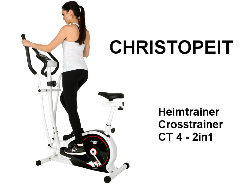 Crosstrainer Ausdauertraining Christopeit Crosstrainer CT 4 2in1 Heimtrainer Fitness Fitnessgerät Sport