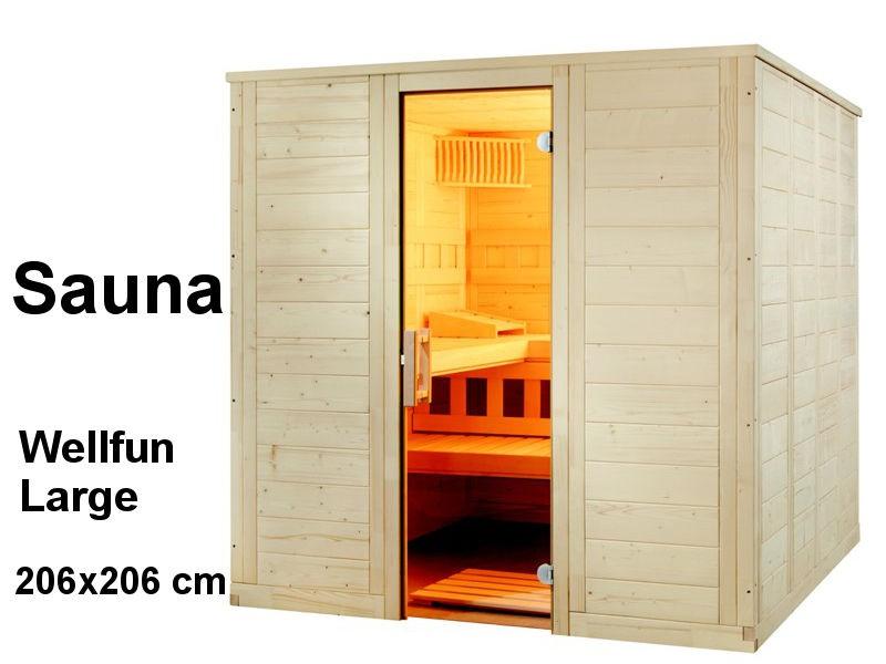 Sauna Bausatz WELLFUN LARGE 206x206cm - Saunakabine