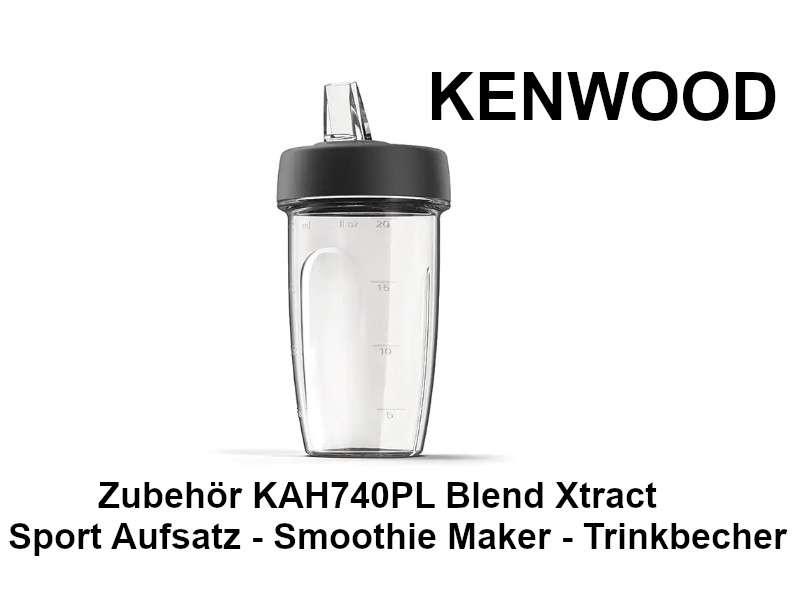 Grau Smoothie Maker KENWOOD KAH740PL Blend Xtract Sport