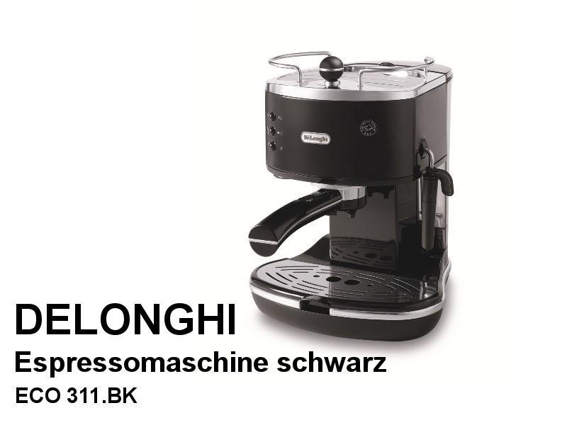 Siebträger-Espressomaschine Icona ECO 311.BK schwarz