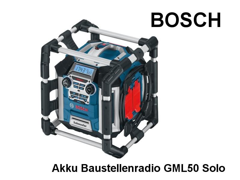 BOSCH Akku Baustellenradio GML50 So | Haus Gartenwelt.at