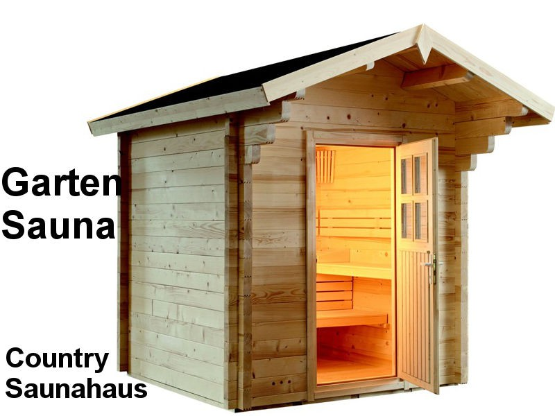Gartensauna Bausatz COUNTRY - Outdoorsauna, Saunahaus