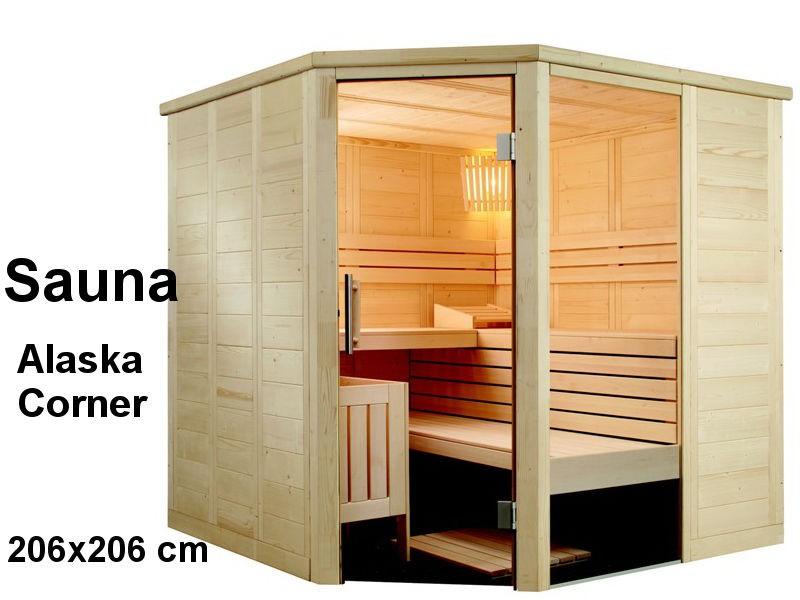 Sauna Bausatz ALASKA CORNER 206x206cm - Saunakabine
