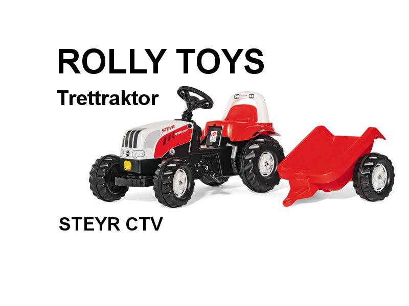 Trettraktor RollyKid STEYR 6190 CVT mit Anhänger von rolly toys