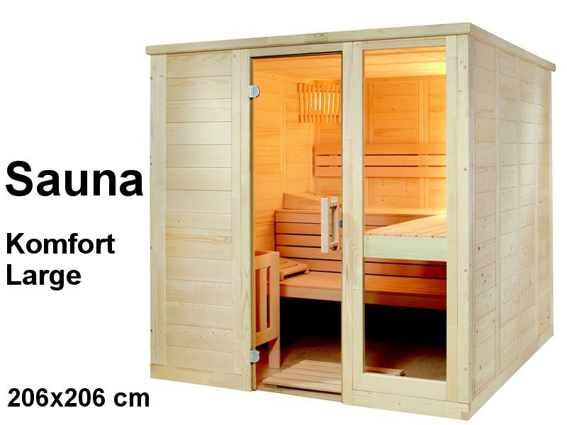 Sauna Bausatz KOMFORT LARGE 206x206cm - Saunakabine
